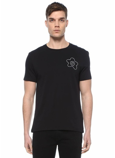 Sandro Sandro  Bisiklet Yaka Basic T-shirt 101632894 Siyah